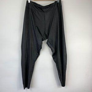 Lane Byrant Shiny Black Stretch Leggings Black 26/
